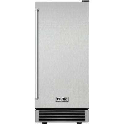 Built-in 50 lbs. Ice Maker in Stainless Steel