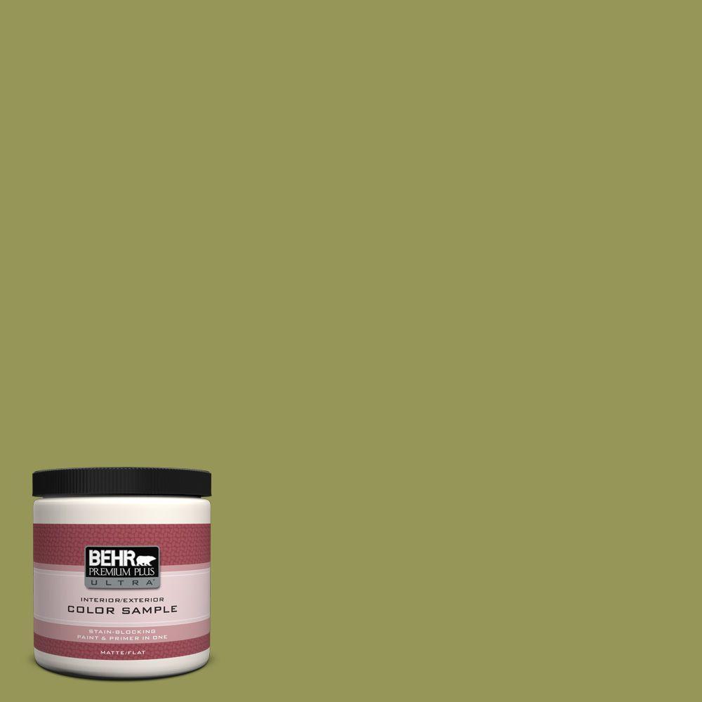 BEHR Premium Plus Ultra 8 oz. #400D-6 Grape Leaves Interior/Exterior Paint Sample