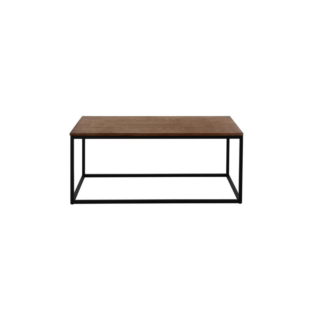 Stylewell Donnelly 42 In Black Brown Large Rectangle Wood Coffee Table With Wood Top Cf8014bk The Home Depot