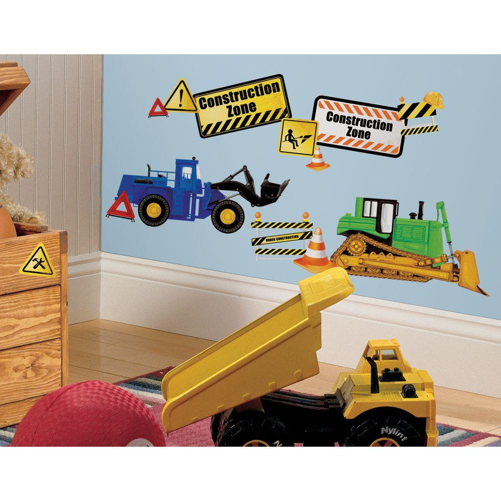 Construction Trucks L And Stick Wall Decals