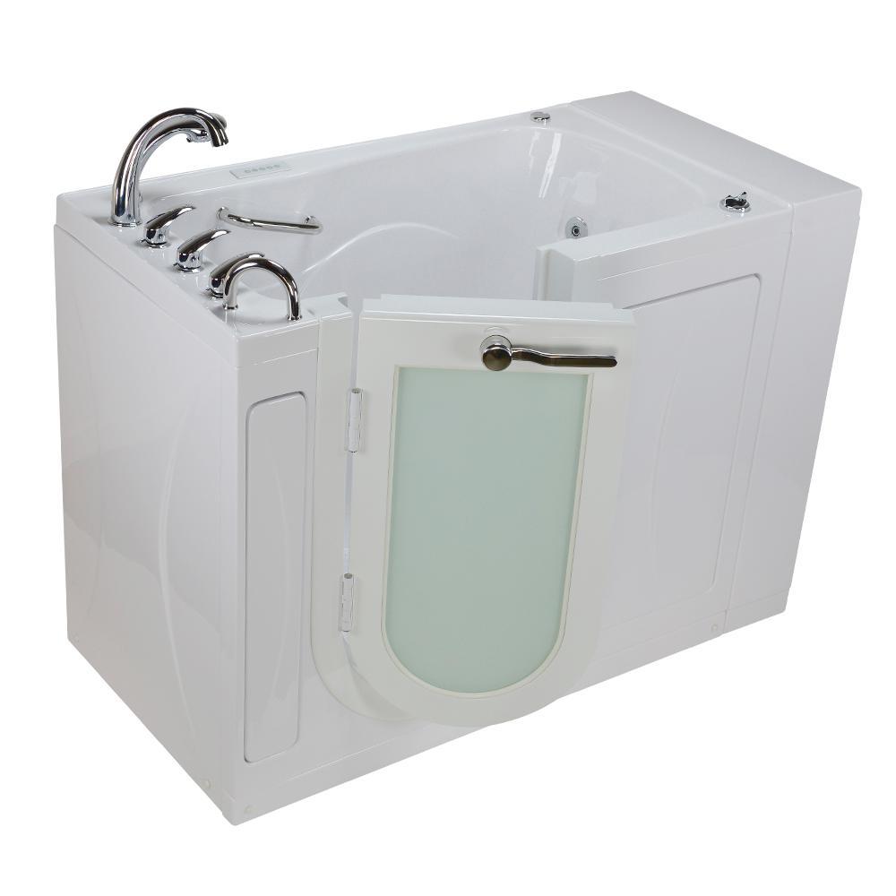 52 in. Malibu Premium Plus Acrylic Walk-In Whirlpool and Air Tub in White