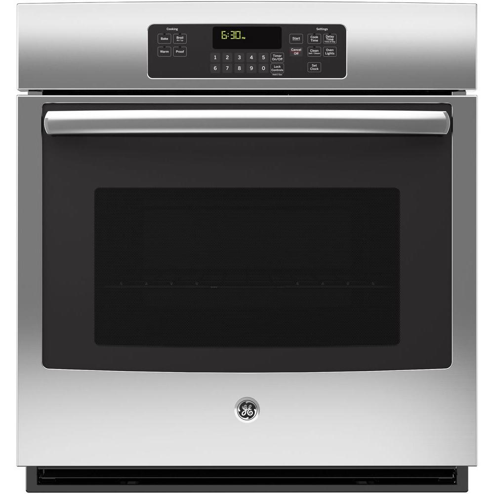 27 in. Single Electric Wall Oven Self-Cleaning with Steam in Stainless