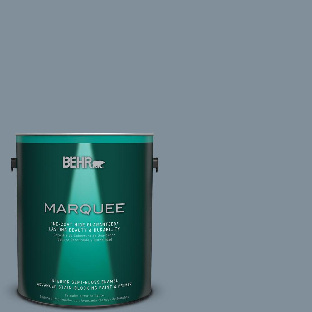 1 gal. #MQ5-20 Cold Steel One-Coat Hide Semi-Gloss Enamel Interior Paint