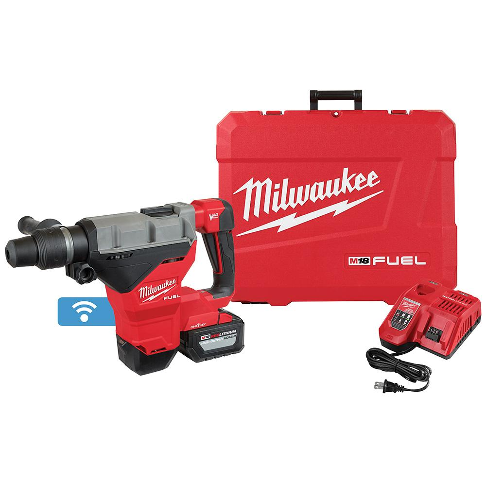 Milwaukee Milwaukee M18 FUEL ONE-KEY 18-Volt Lithium-Ion Brushless Cordless 1-3/4 in. SDS-MAX Rotary Hammer with One 12.0 Ah Battery