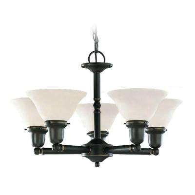 Sussex 5-Light Heirloom Bronze Chandelier