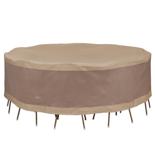 Elegant 96 in. Dia x 29 in. H Round Table and Chair Set Cover