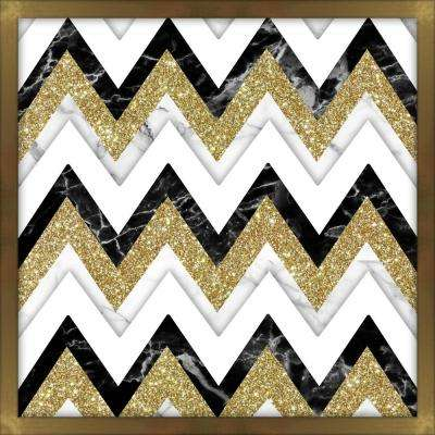 Glitter Chevron 10 in. x 10 in. Shadowbox Wall Art