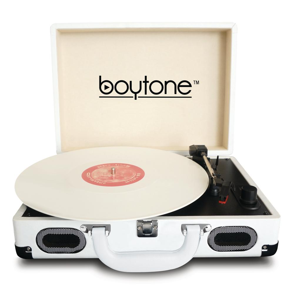 Exclusive Mobile Bluetooth Briefcase Turntable, White