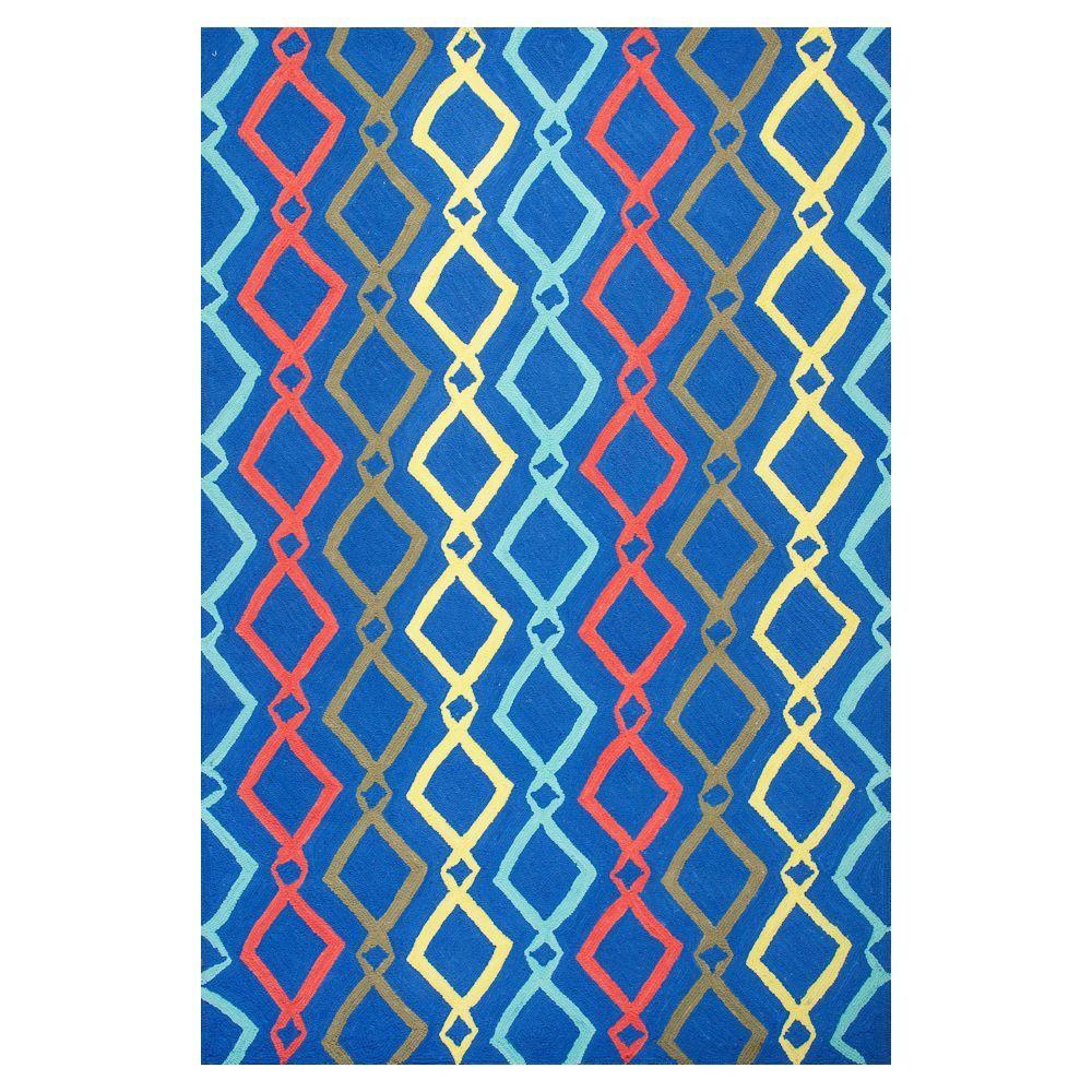 Trends Blue 5 ft. x 7 ft. Area Rug