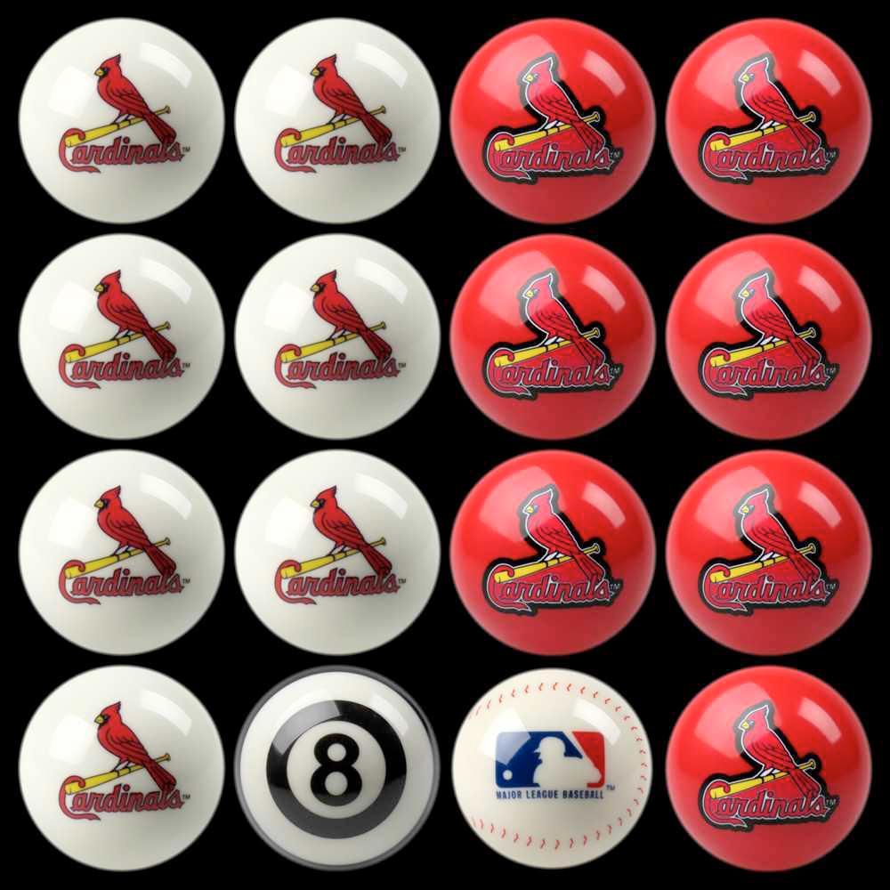 St. Louis Cardinals Home Vs Away Billiard Ball Full Set of 16