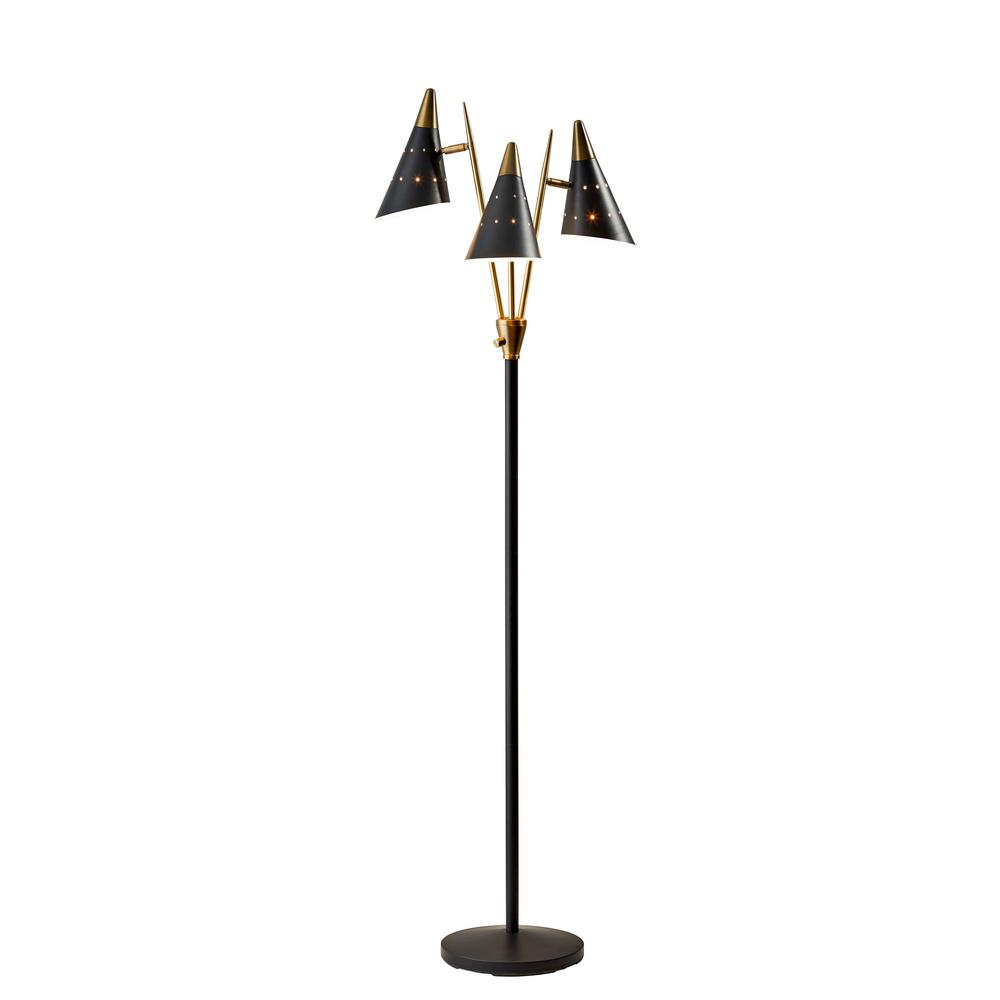 Adesso Nadine 66 In 3 Arm Floor Lamp 3249 01 The Home Depot