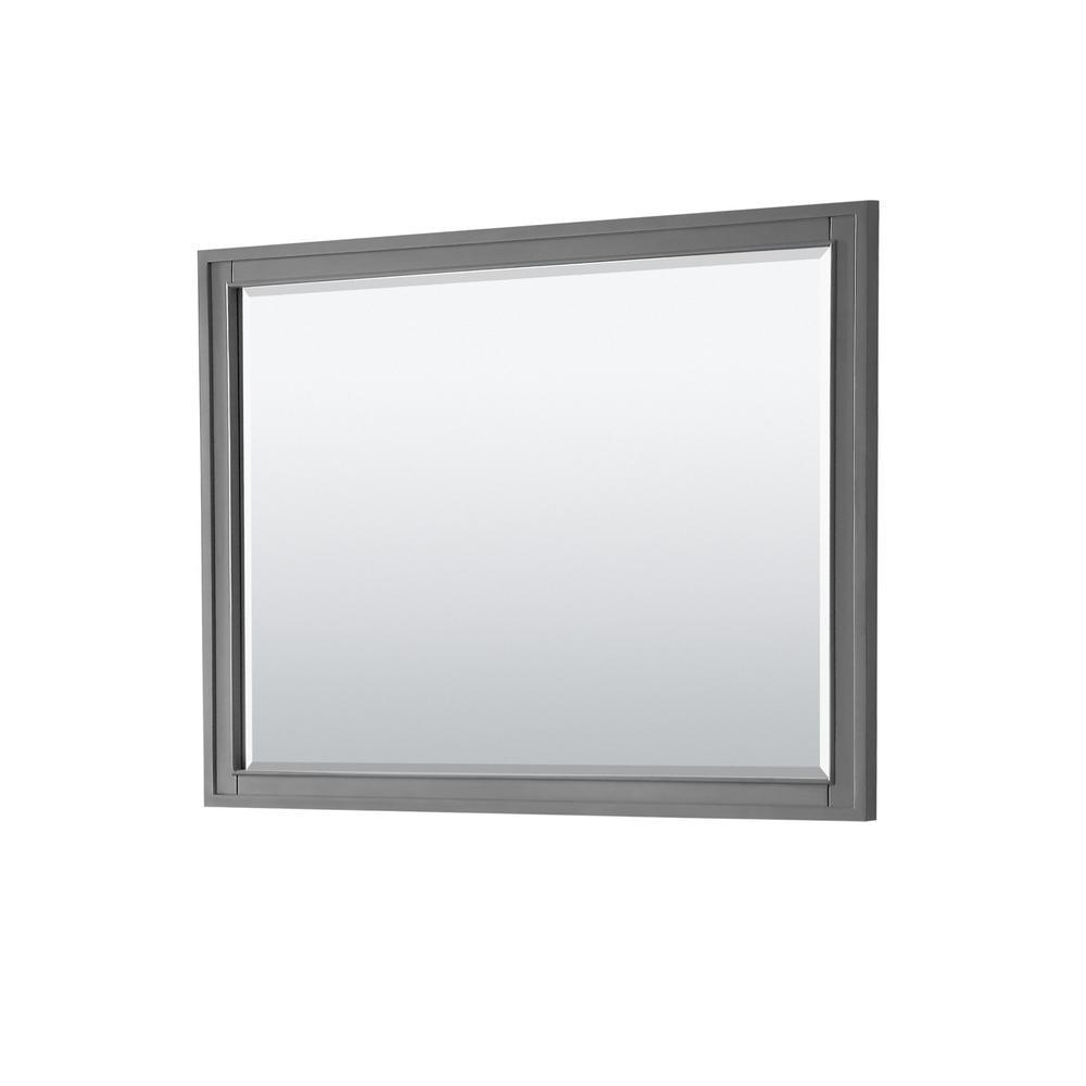 Margate 46 in. W x 33 in. H Framed Wall Mirror in Dark Gray