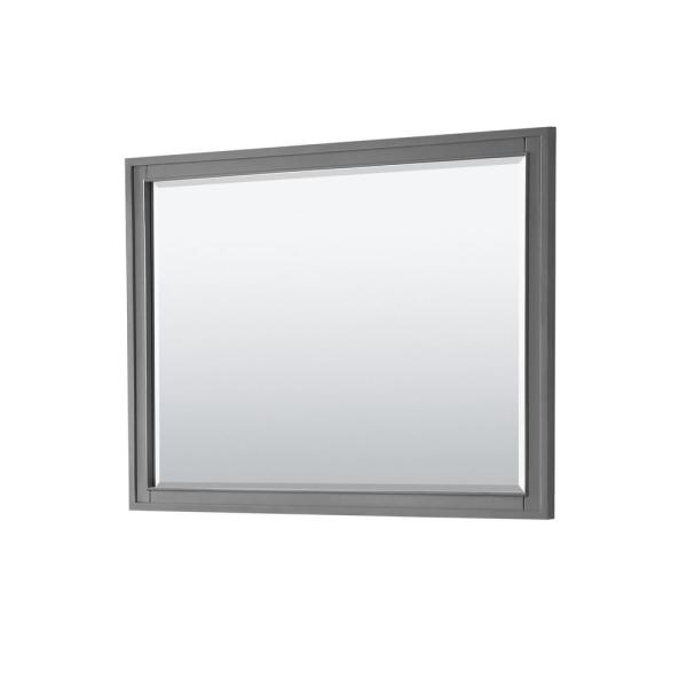 Margate 46 in. W x 33 in. H Framed Rectangular Bathroom Vanity Mirror in Dark Gray