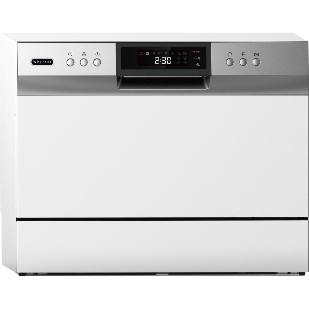 Energy Star Countertop Portable Dishwasher 6 Place Setting Led White