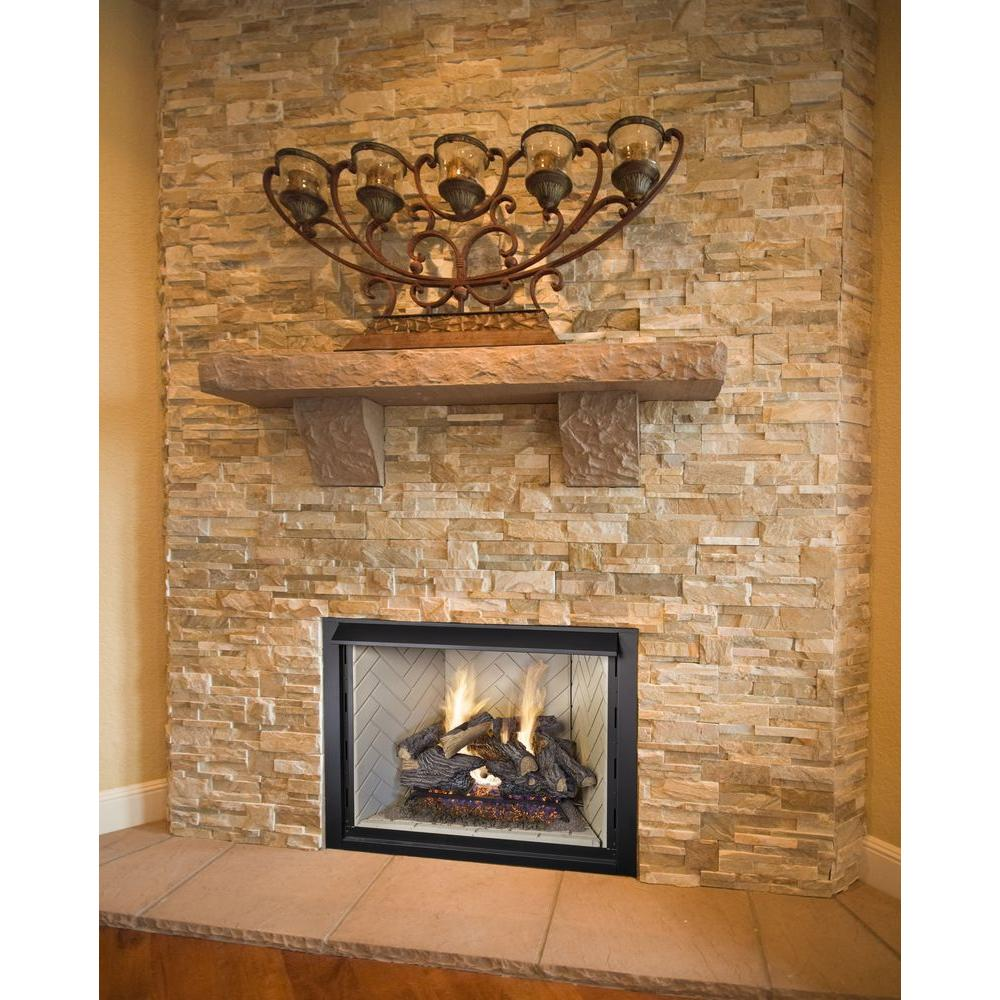 vl set oak fireplace logs pleasant hearth willow the p gas in vented log