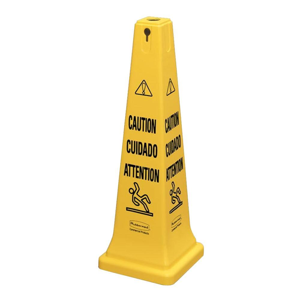 36 in. Safety Cone with Multi-Lingual Caution Imprint