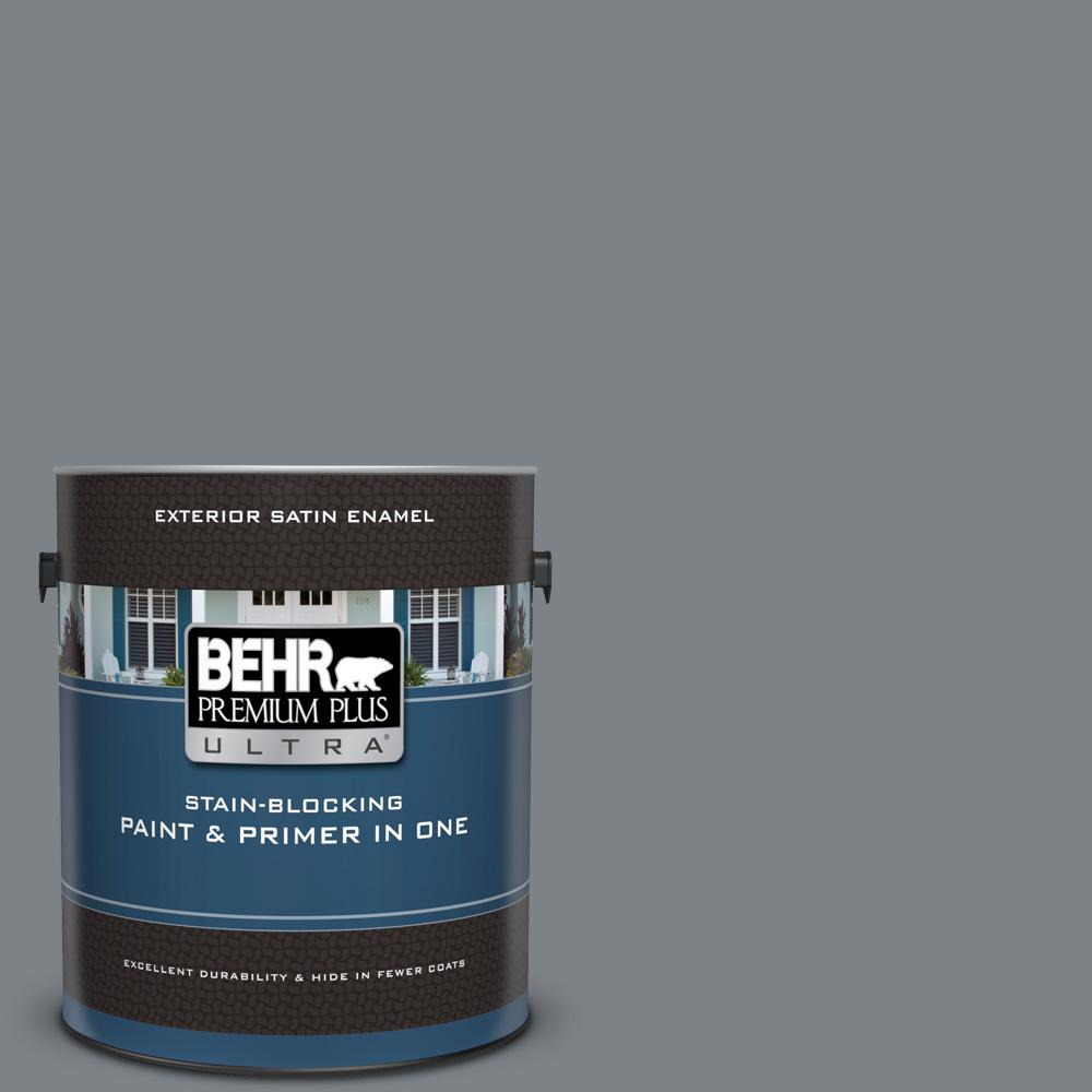 Ppu26 03 Legendary Gray Satin Enamel Exterior Paint And Primer In One