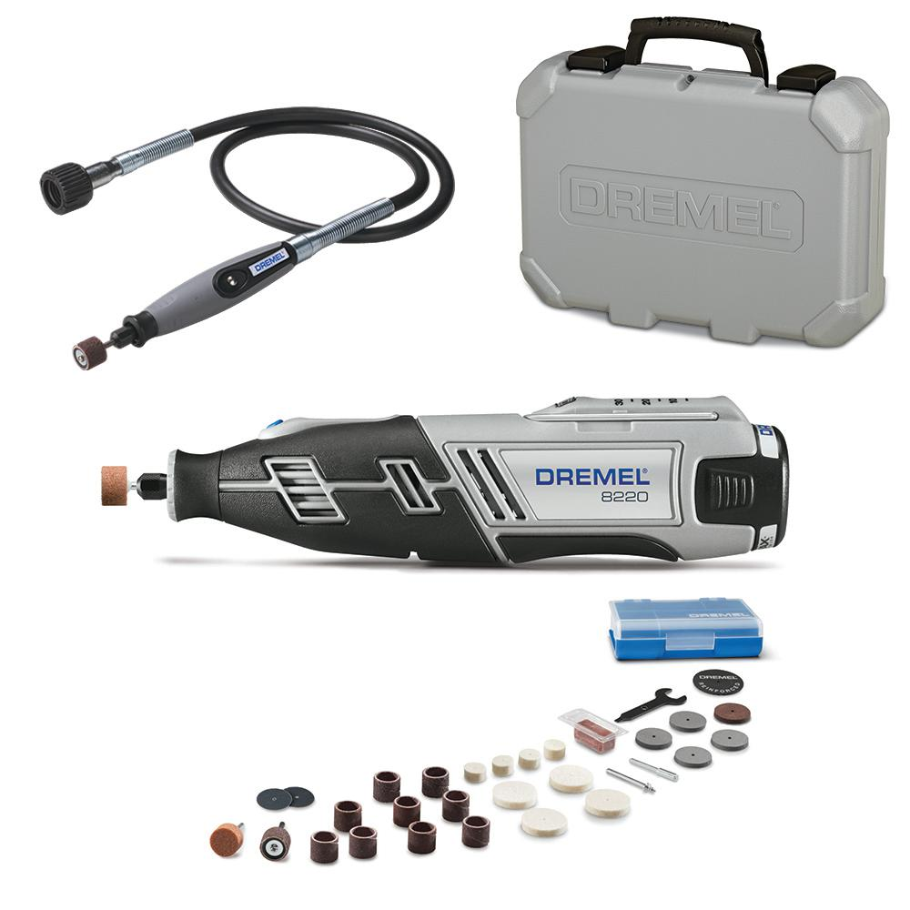 Dremel 36 in. Flex-Shaft Attachment - Rotary Tools + 8220 Series 12-V MAX Lithium-Ion Variable Speed Cordless Rotary (Tool Kit) - 22501+8220N/30H