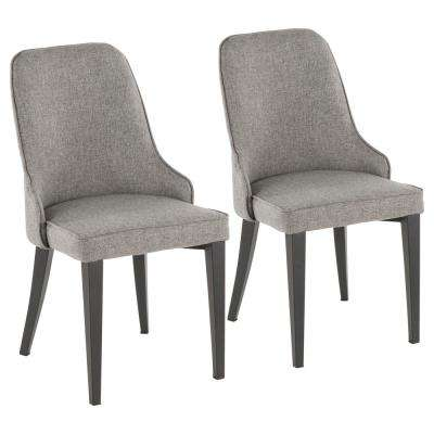 Nueva Grey and Black Dining/Accent Chair (Set of 2)
