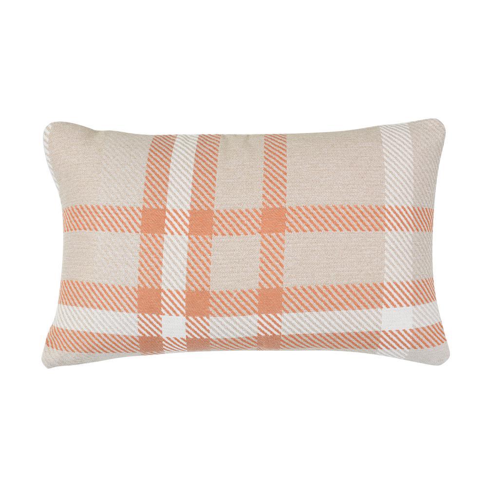 Tartan Tuscan Lumbar Outdoor Accent Throw Pillow