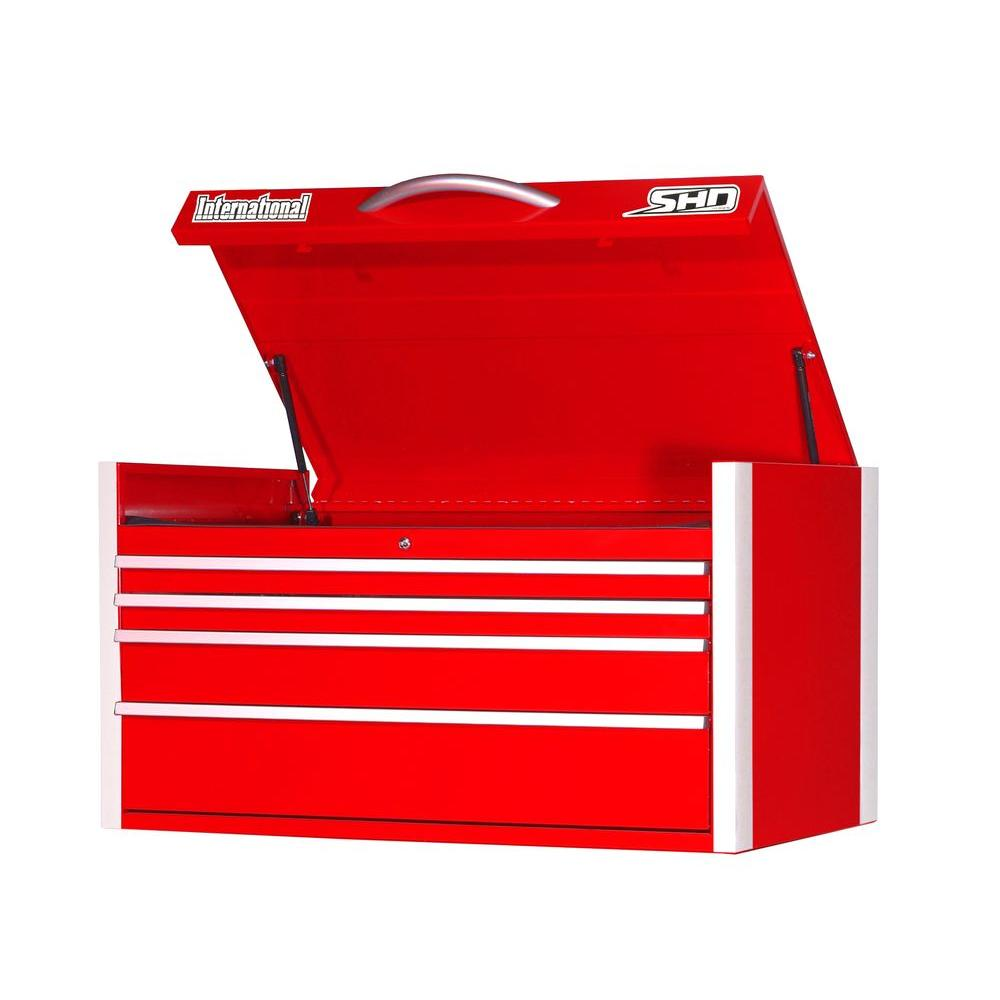 SHD Series 42 in. 4-Drawer Top Chest, Red