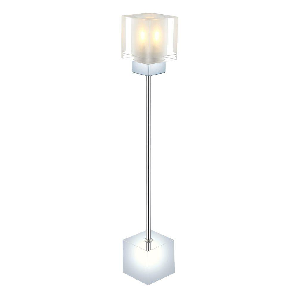 Eglo Tanga 16-7/8 in. Chrome Table Lamp with Crystal Shade