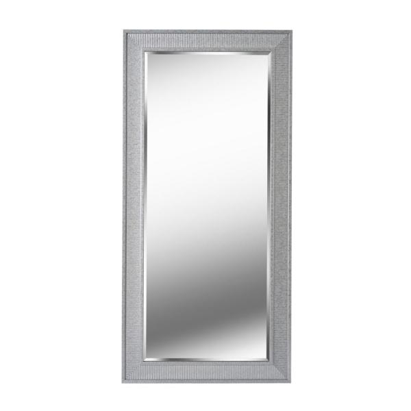 Oversized Silver Plastic Glam Mirror (65.38 in. H X 31.38 in. W)