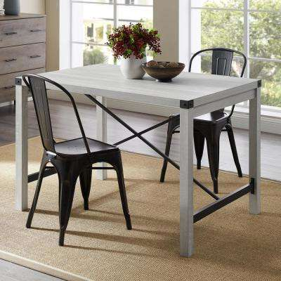 48 in. Stone Grey Industrial Farmhouse Dining Table