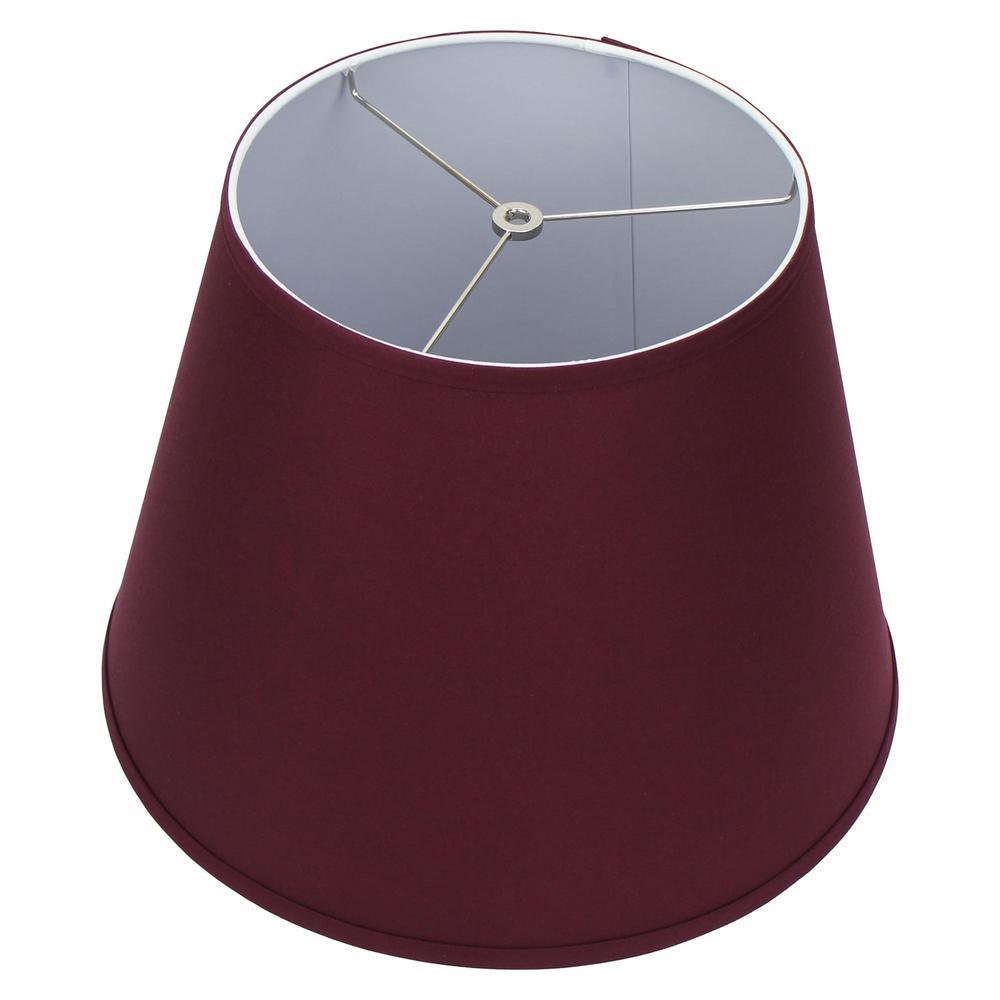 11 in. Top Diameter x 17 in. Bottom Diameter x 13 in. Slant Linen Burgundy Empire Lamp Shade