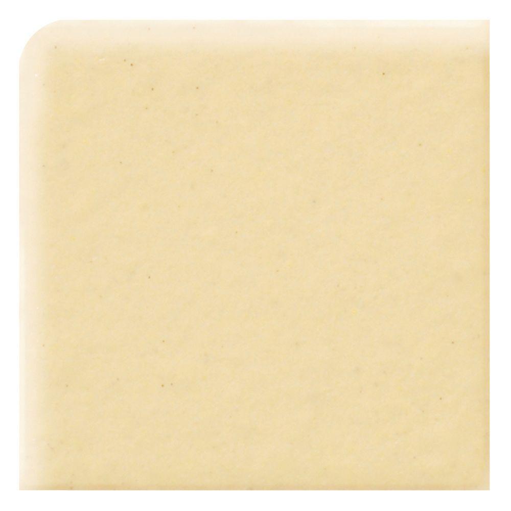 Daltile Semi-Gloss Cornsilk 4-1/4 in. x 4-1/4 in. Ceramic Bullnose Corner Wall Tile