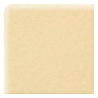 Semi-Gloss Cornsilk 4-1/4 in. x 4-1/4 in. Ceramic Bullnose Corner Wall Tile