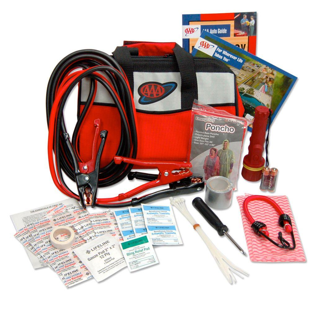 AAA Emergency Road Voyager Safety and First Aid Kit 63-Piece-DISCONTINUED