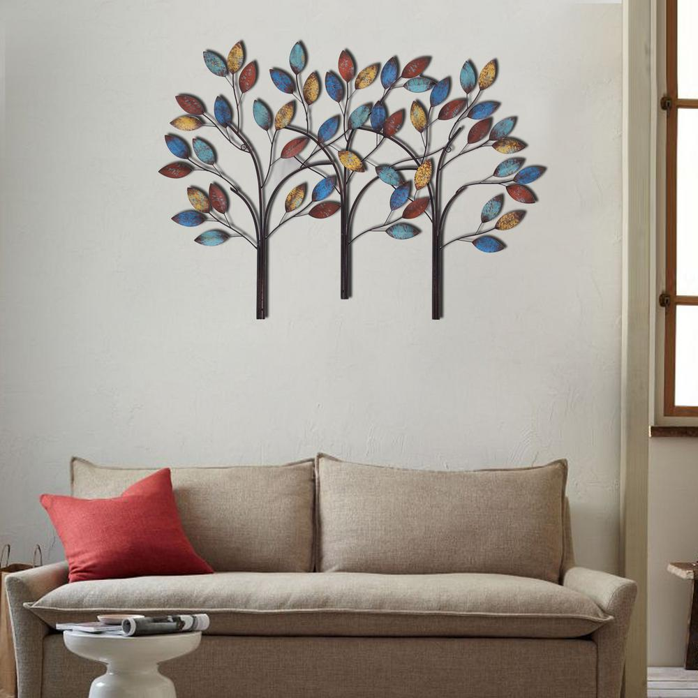 Home Depot Wall Decor In X Tree Metal Wall D On Wall Decor Murals The Home Depot Model