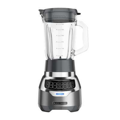 PowerCrush 48 oz. 3-Speed Silver Digital Blender with Quiet Technology