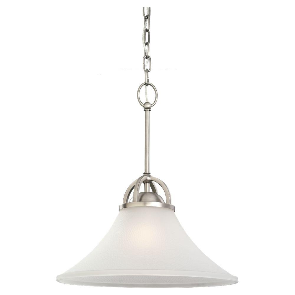 Sea Gull Lighting Somerton 1-Light Antique Brushed Nickel Pendant