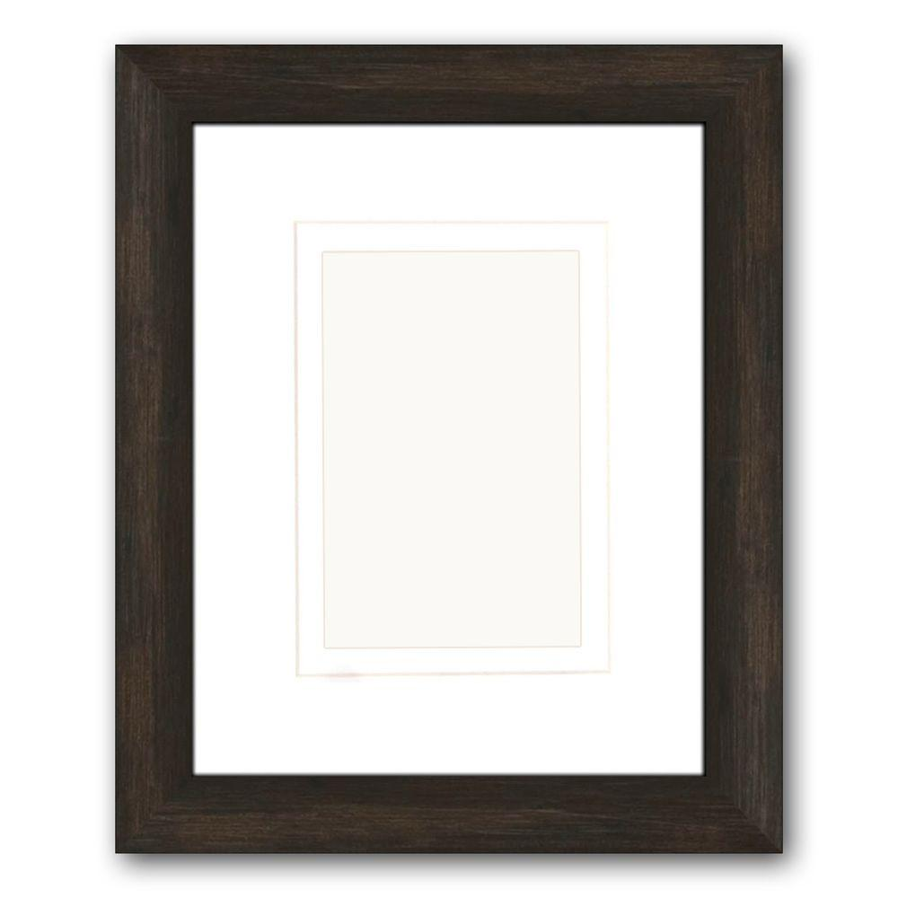 PTM Images 1-Opening 4 in. x 6 in. or 5 in. x 7 in. Matted Brown Picture Frame (Set of 2)