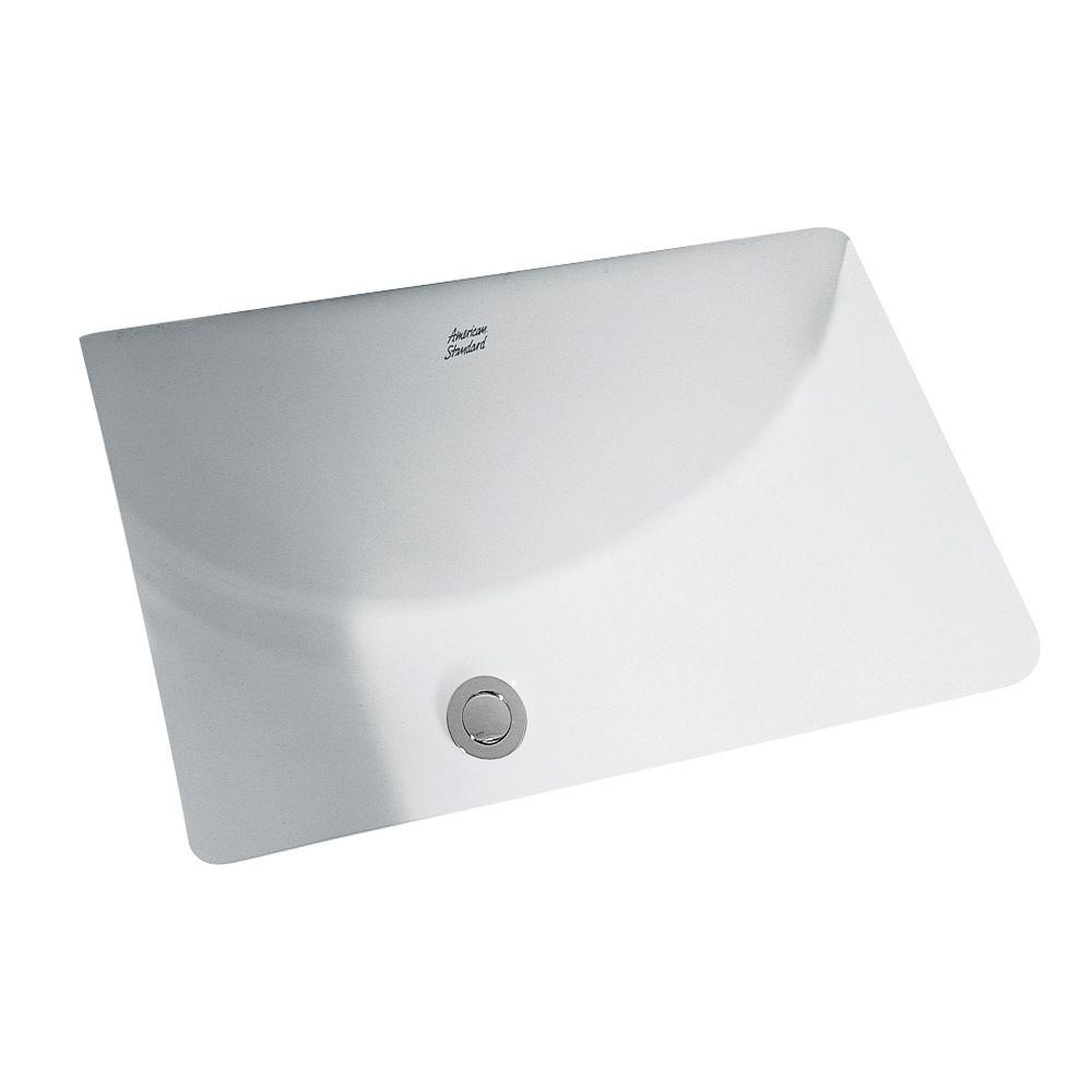 American Standard Studio Undercounter Bathroom Sink With Glazed - American standard undermount bathroom sinks