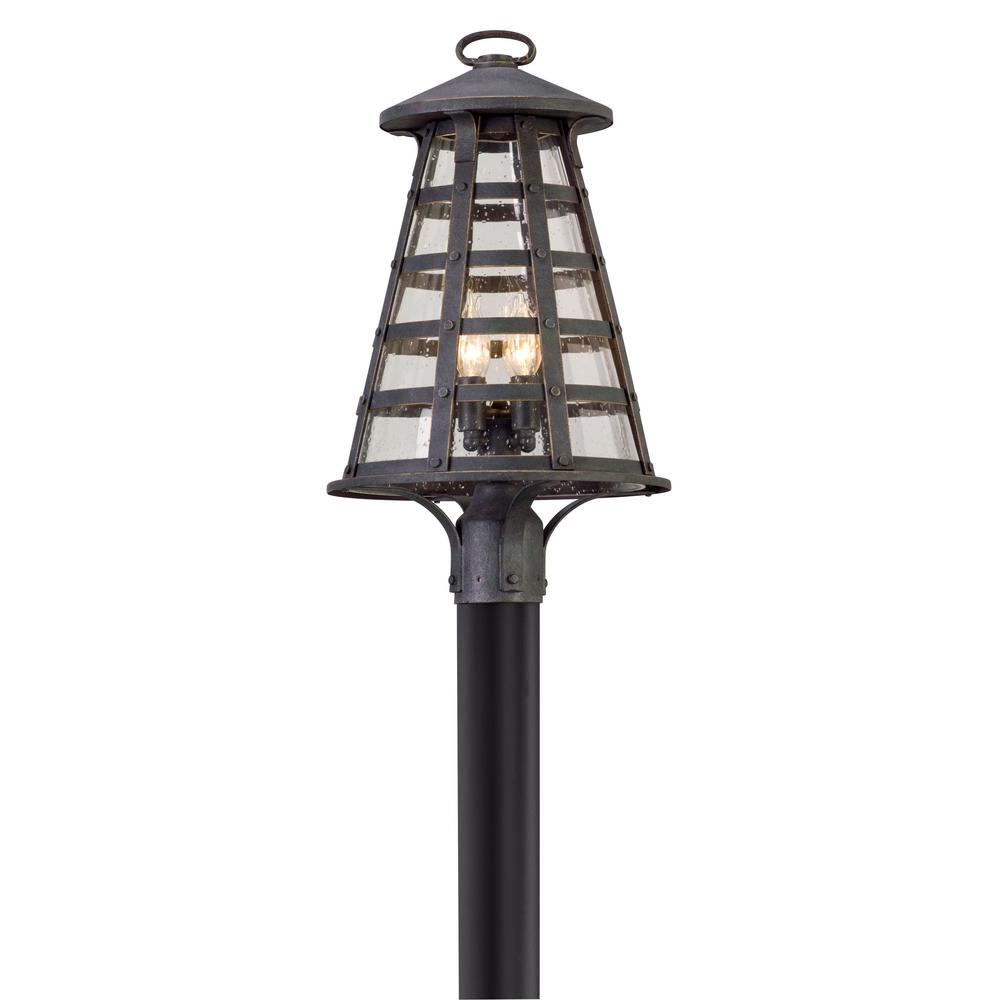 Troy Lighting Benjamin 4 Light Outdoor Vintage Iron Post