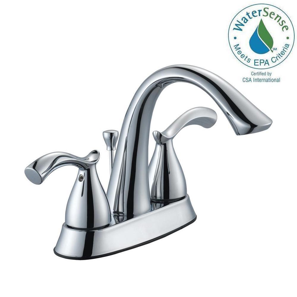 Glacier Bay Edgewood 4 inch Centerset 2-Handle High-Arc Bathroom Faucet in Chrome by Glacier Bay