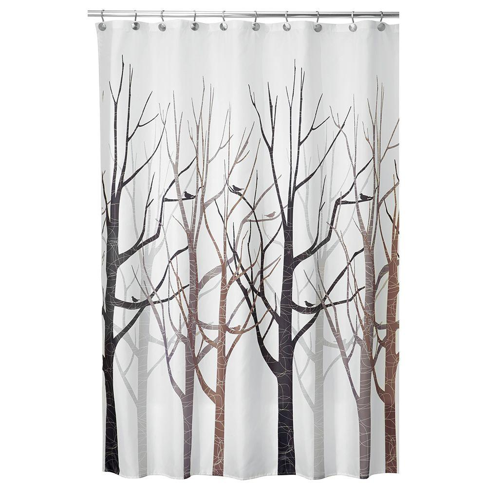 Shower Curtain In Gray And Black