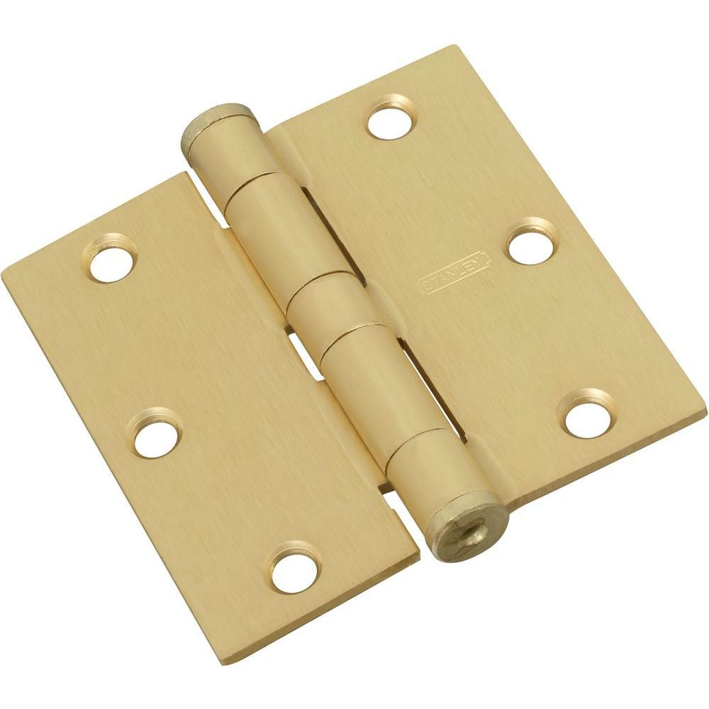 3-1/2 in. x 3-1/2 in. Satin Brass Standard Weight Hinge