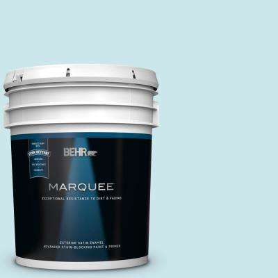5 gal. #MQ3-52 Ethereal Mood Satin Enamel Exterior Paint and Primer in One