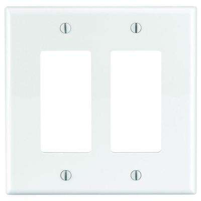Decora 2-Gang Midway Nylon Wall Plate - White