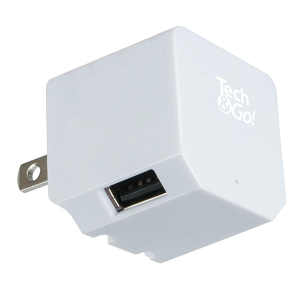 Tech And Go 2 Port Usb Wall Charger White 131 0844 Tg3 The Home Depot