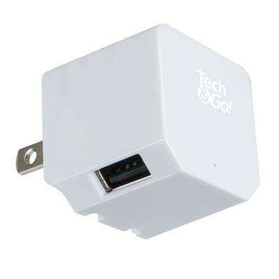 2-Port USB Wall Charger, White