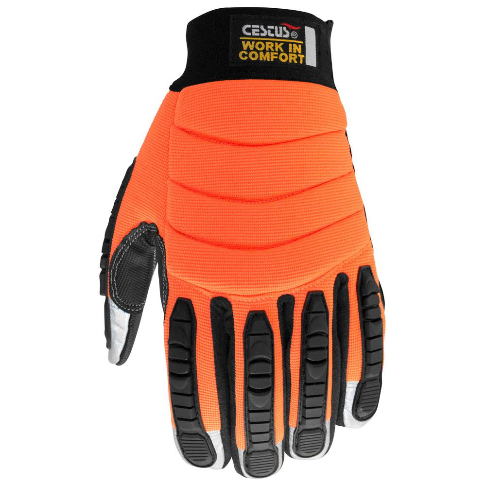 4XL Orange HM Impact Gloves
