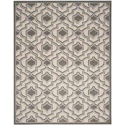 Amherst Ivory/Gray 8 ft. x 10 ft. Indoor/Outdoor Area Rug