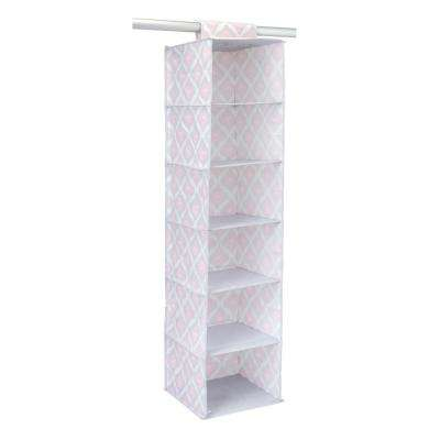 12 in. x 12 in. x 46 in. 6 Shelf Hanging Organizer in Ikat