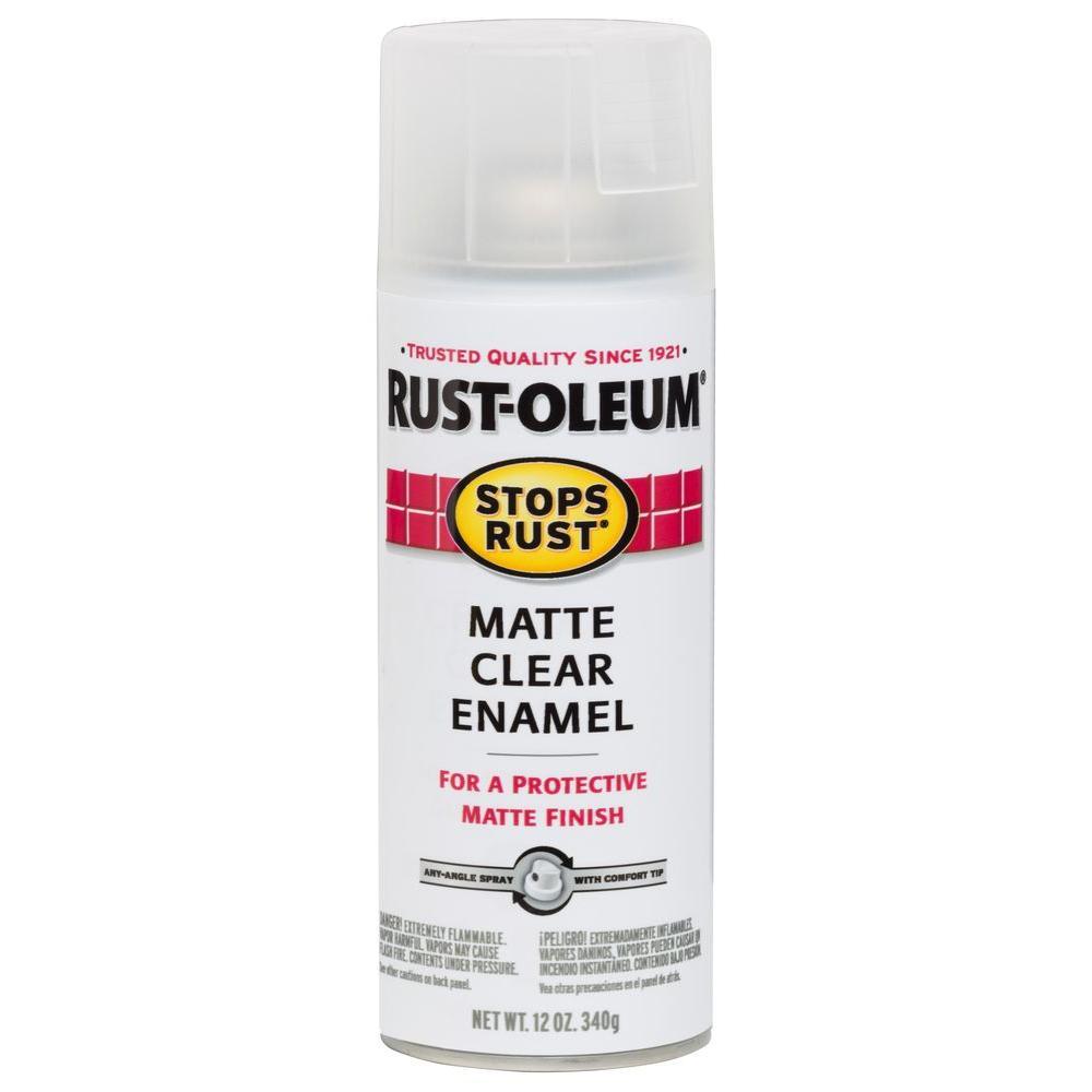 12 oz. Clear Matte Protective Enamel Spray Paint (6-Pack)
