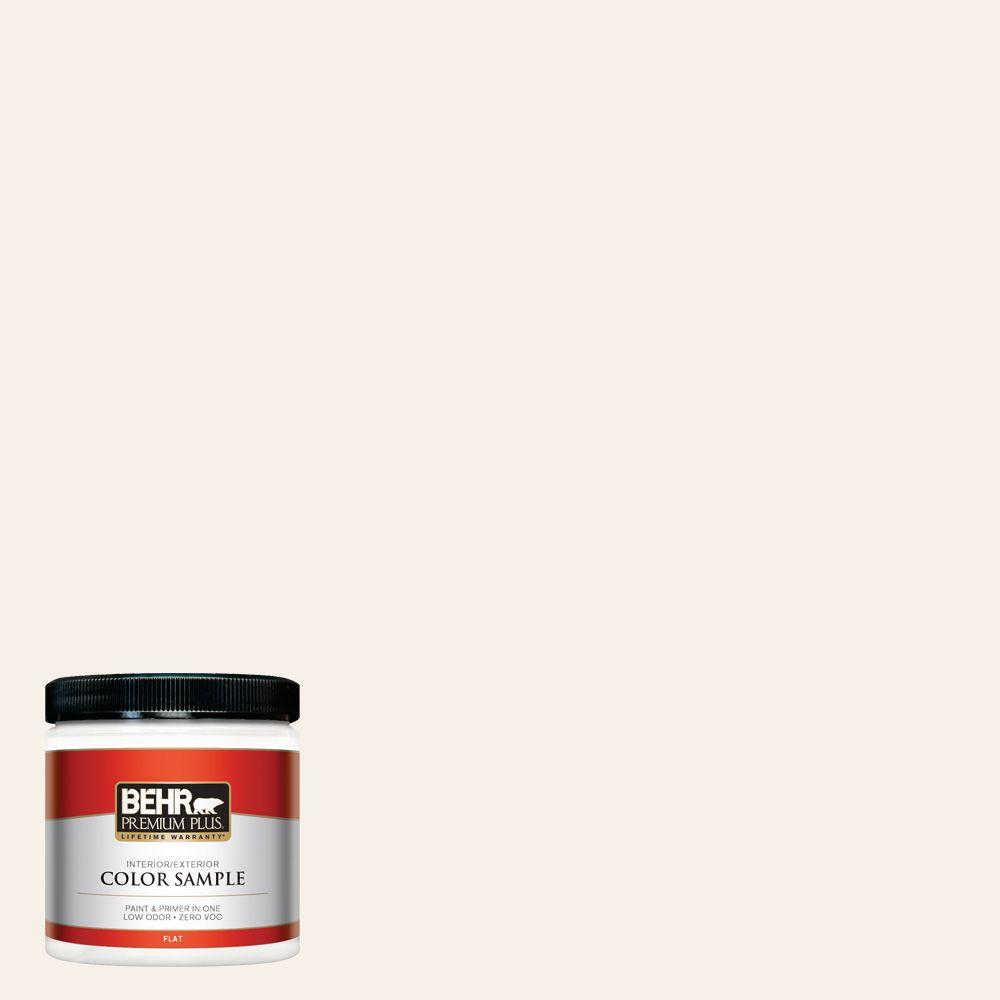 8 oz. #PWN-34 White Luxury Zero VOC Interior/Exterior Paint Sample